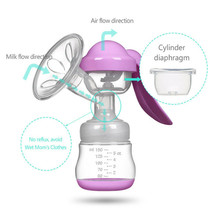 Manual Massage Breast Pump Powerful Suction Nature Baby Sucking Pregnant... - $12.34