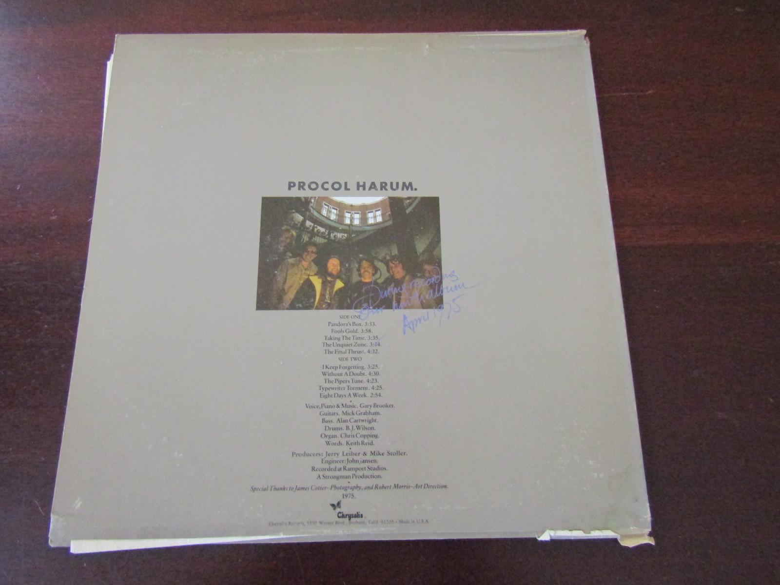 Prcol Harem LP record Procol's Ninth 1975 VG
