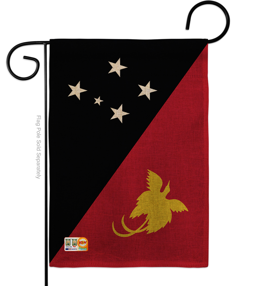 Primary image for Papua New Guinea Burlap - Impressions Decorative Garden Flag G142183-DB