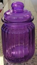 CANDY JAR Purple Glass Sugar Pot Kitchen Canister image 5