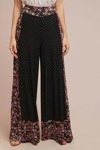 Nwt Anthropologie Floral Wide Leg Pants By Farm Rio S - $94.99