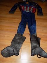 Boy's Size Large Marvel Civil War Captain America Halloween Costume Jumpsuit New - $32.00