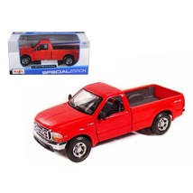 1999 Ford F-350 Super Duty Pickup Truck 4x4 Red 1/27 Diecast Model by Ma... - $31.39