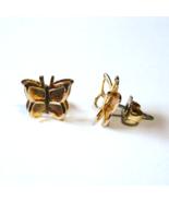 Vintage Gold Tone Gentle Butterfly Earrings ~ Signed Avon - $5.99