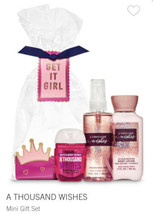 Bath & Body Works A THOUSAND WISHES  Mini Gift Set ~  GET IT GIRL NEW  S... - $19.99