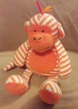 MANHATTAN TOY GIGGLE BABY orange white striped MONKEY APE CHIMP plush to... - $23.36