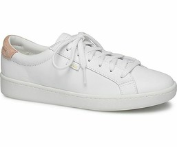 Keds WH58548 Women's Ace Leather White/Coral Shoes, 9 Med - $44.50