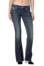 Rock Revival Women's Premium Boot Cut Dark Denim Rhinestone Jeans Noho BE402