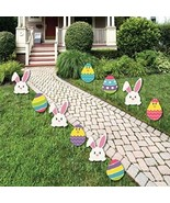 Easter Yard Signs Garden Stake Path Way Lawn Decorations Spring Bunny 10... - $49.45