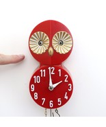 OWL Wall Clock ROLLING / MOVING EYES Pendulum Very RARE! Collectors Item... - $395.00