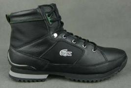 Lacoste Vezelay Eo Spm Black Leather Shoes 7-24SPM20351R6 - $59.99