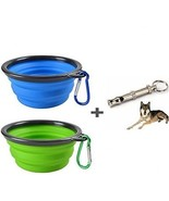 TheMist Dog Bowl, Collapsible Dog Bowl, 2 Pack And Whistle, Food Grade ... - $19.37