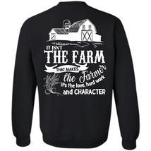 Hard Work And Character T Shirt, I Love Farming Sweatshirt - $16.99+