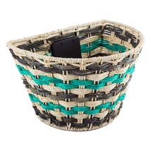 """Sunlite Rope Weave QR Bicycle Basket-Teal-14.5 x 10.25 x 9"""" - $37.99"""