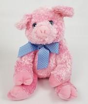 "TY Beans the Pig Blue Bow Eyes Tysilk Plush Stuffed Toy Animal 2006 12"" - $17.81"