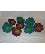 Set of 8 Pier 1 Succulent Flower Napkin Rings Holders Teal NWT FREE SHIP... - $49.49