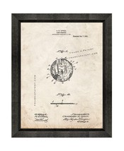 Game-schedule Patent Print Old Look with Beveled Wood Frame - $24.95+