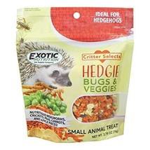 Exotic Nutrition Hedgie Bugs & Veggie Treat 5.5 oz. - Hedgehog Treat - $13.99