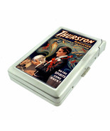 Vintage Magic Magicians D5 Cigarette Case with Built in Lighter Metal Wa... - $14.80