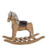 LARGE ROCKING HOBBY HORSE - Solid Oak in 4 Finishes Amish Handmade in USA - $389.97