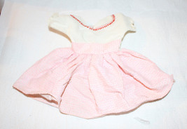 "Vintage Pink Doll Dress Circa 1950s 9-1/4"" Searsucker - $20.57"