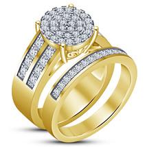 14k Yellow Gold Finish 925 Silver Womens Engagement Anniversary Bridal R... - $88.99