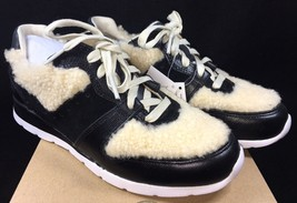 UGG Deaven Sheepskin Sneaker Athletic Fashion Shoes 1014480 Black Tan Sh... - $59.99