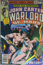 John Carter Warlord Of Mars #7 Marvel Comics 1977 FN/VF Edgar Rice Burroughs - £2.65 GBP