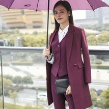 Women's Fashion Career Apparel High Quality 3 Piece Formal Business Pant Suits