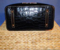 Dooney & Bourke Paige Sac Leather Croco Emb Hobo Blue image 9