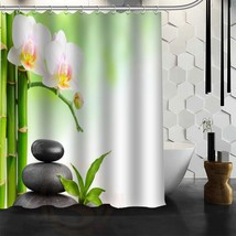 Custom Zen stone Shower Curtain Polyester Fabric Customized More Size Bathroom S - $44.53