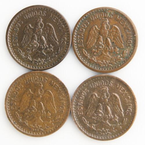 1912-1935 MO Mexico 1 Dominicana Lotto (Au-Unc,4 Monete) un One 1c Messicano