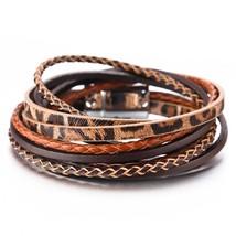 Amorcome Leopard Bracelets for Women Jewelry 2019 Handmade Braid Ladies ... - $16.85