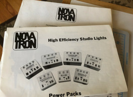 1986 NOVATRON high Efficiency STUDIO LIGHTS Flash Heads Brochure And Pri... - $18.69