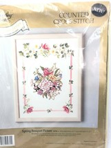 Something Special Spring Bouquet Flowers Cross Stitch Kit 50701 Vtg Cottage Core - $27.67