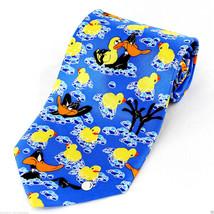 Looney Tunes Daffy Duck Mens Licensed Necktie Cartoon Rubber Ducky Neck Tie - $27.67