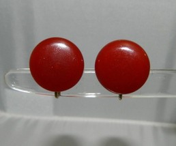 VTG Gold Toned Cherry Amber BAKELITE Tested Clip Earrings - $24.75