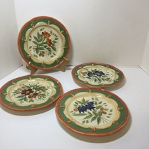 "4 Salad Plates Pamela Gladding Wildflowers Certified International 8.5"" - $19.34"