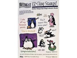 River City Rubber Works Penguins Rubber Stamp Set #RSEZ-015