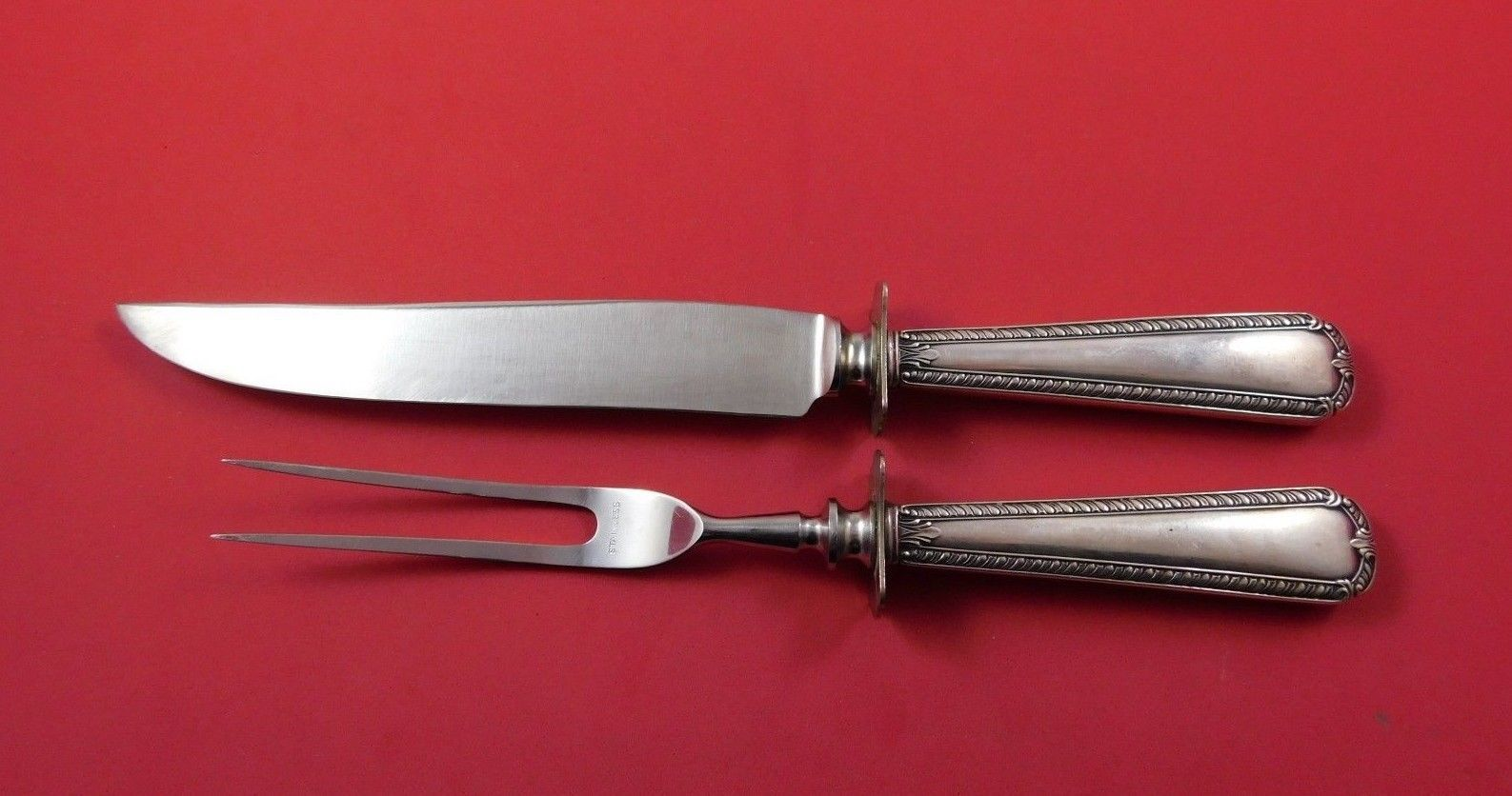 Primary image for SSMC-Saart Sterling Silver Steak Carving Set 2pc HH WS
