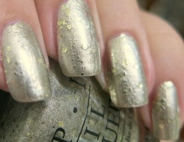 OPI Venice BAROQUE BUT STILL SHOPPING Shimmery Gold Glitter Nail Polish ... - $5.91