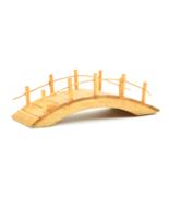 Natural Wooden Bridge, Wood Bridge with Rails, Fairy Garden Landscaping - $8.99