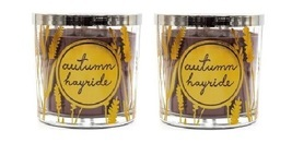 Sonoma Autumn Hayride Scented Candle  13 oz each  Cedarwood Cinnamon- Lo... - $31.50