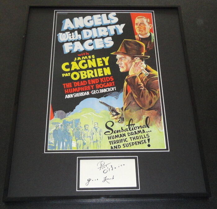 Pat O'Brien Signed Framed 16x20 Photo Display Angels With Dirty Faces