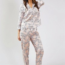 Pretty You London Womens Nightwear Trousers Floral in Blush Pink - Medium - $52.00
