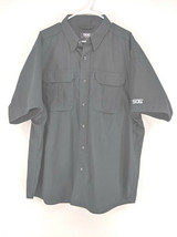 SOG Tactical Utility Shirt Men's Size XL Black Short Sleeve Ripstop  (a)  - $22.99