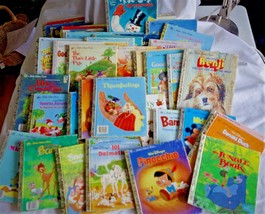49 Children's  Little Golden Book 1948 to 1999 Disney Stories - Many Classics - $56.10