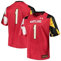 Maryland Terps College Football Jersey By Under Armour NWT Terrapins NCA... - $84.99