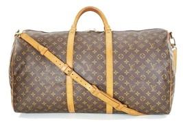Auth LOUIS VUITTON Keepall Bandouliere 60 Monogram Canvas Duffel Bag #34609 - $629.00