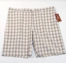 Perry Ellis  America Plaid Flat Front Cotton Casual Shorts Men's NWT - $33.74